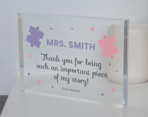 Teacher Gift, Desk Sign For Teacher, End Of Term Gift, Instructor Present, Gift For Coach, Teacher Goodbye Gift