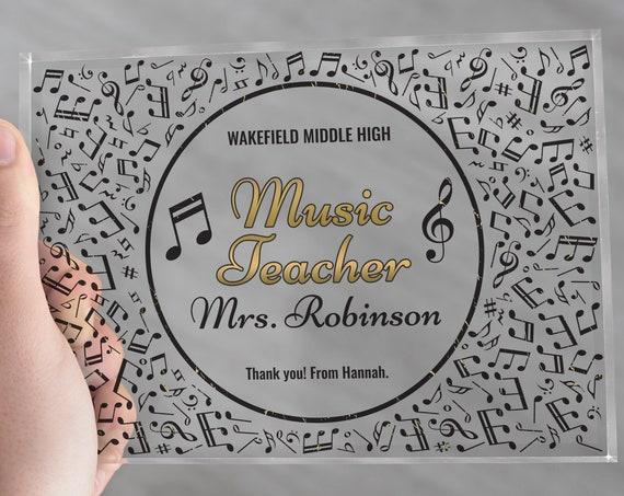 Music Teacher Gift | Music Teacher Retirement | Music Coach Gift | Music Teacher Appreciation | Gift For Music Teacher