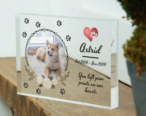 Dog Memorial Frame | Dog Memorial Stone | Dog Memorial Gift | Dog Remembrance Gift