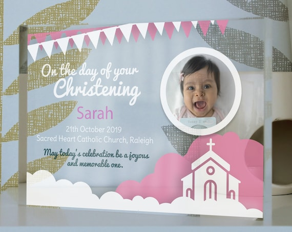 Christening Gift For A Girl | Baptism Present For Girl | Christening Picture Frame | Personalized Gift For Christening