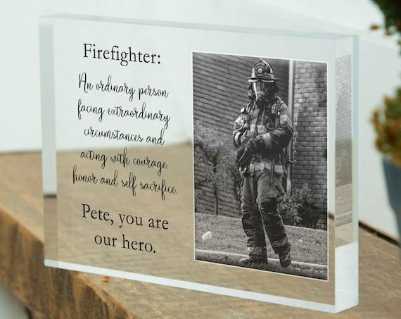 Custom Firefighter Gift For Him, Retirement Gift For Fireman, Wedding Gift For Firefighter, Retired Firefighter Gift