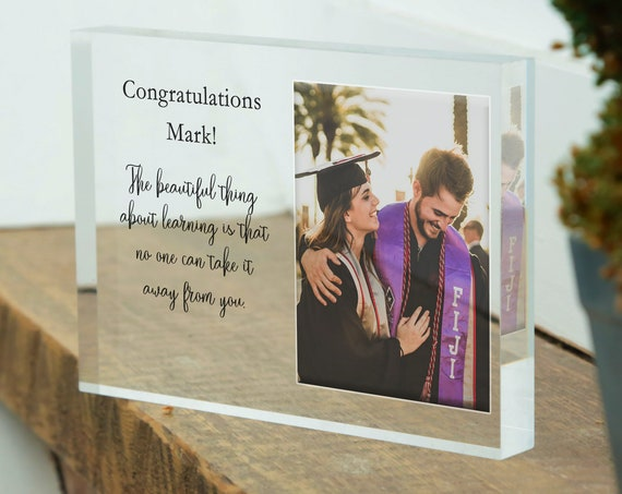 Graduation Picture Frame Gift, Congrats Grad Photo, Graduation Present, School Picture Frame