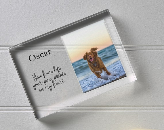 Custom Dog Memorial Frame, Dog Memorial Gift, Dog Loss Sympathy Gift, Dog Picture Frame, Dog Remembrance