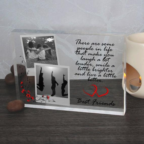 Pal personalized gift idea, Best friend crystal clear glass, Friend cadre photo, best friend quotation, Pal acrylic block,Friend photo album