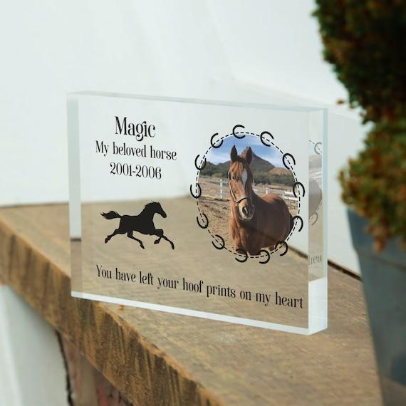 Horse Memorial, Pet Loss Gift, Pet Memorial Frame