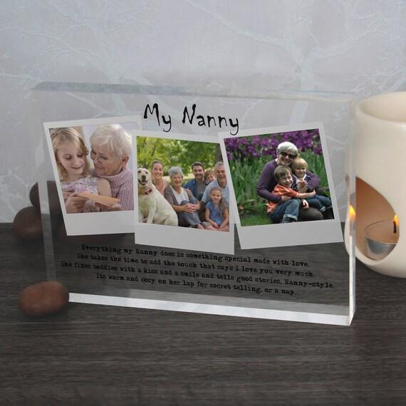Nanny Acrylic block,Nanny crystal clear glass,Nanny personalized photo,Nanny quotation,Nannie customized photo