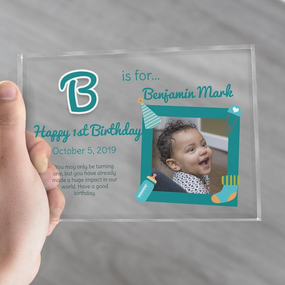 Baby Boy First Birthday Gift | 1st Birthday Present For Boy | 1st Birthday Picture Frame | Personalized Gift For Baby Boy
