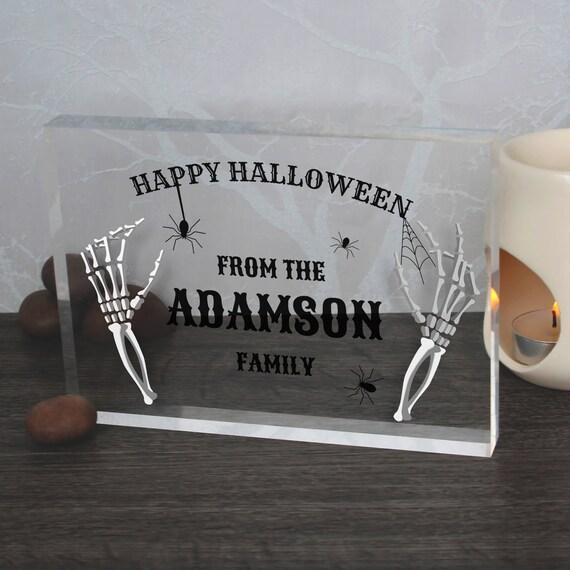 Happy Halloween Signs | Custom Halloween Gifts | Family Halloween Sign