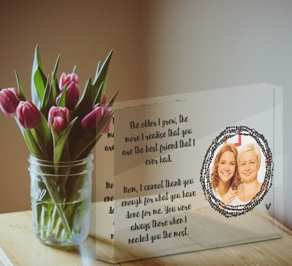 Mothers Day From Daughter, Mum Photo Frame, Personalized Gift For Mom From Daughter