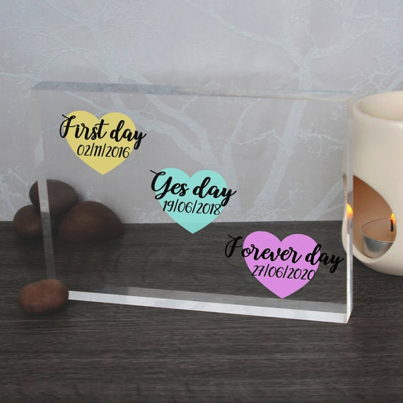 Engagement Present | Wedding Date Sign | Unique Wedding Gift For Couple