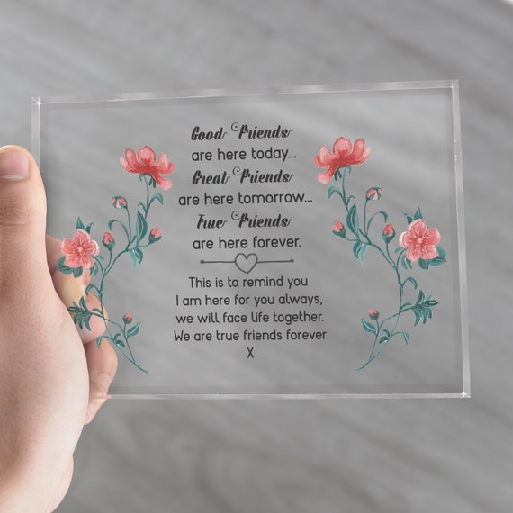 Good friends gift idea, Good friends quote glass block