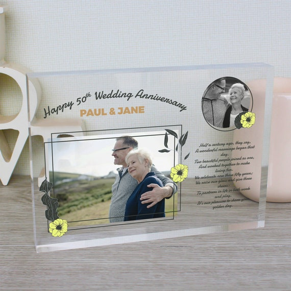 50th Anniversary Gift For Parents | Golden Wedding Anniversary Gift