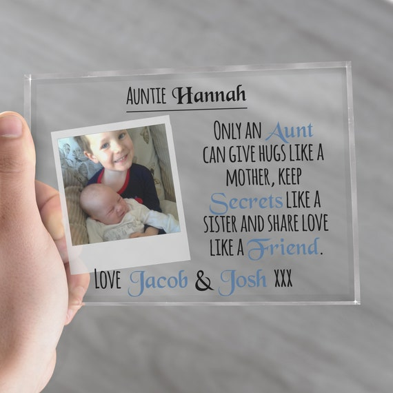 Custom Photo Block, Auntie Gift, New Aunt Gift, Best Aunt Ever, Best Auntie