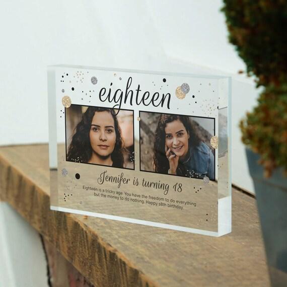 Custom 18th Birthday Photo Frame Gift For Daughter | Personalized 18th Birthday Gift For Her | 18th Birthday Picture Frame