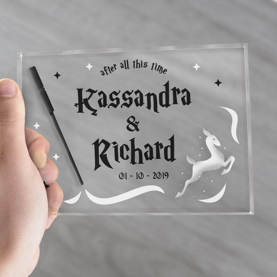 Harry Potter Wedding Gift | Harry Potter Engagement Gift | Harry Potter Couples Gift