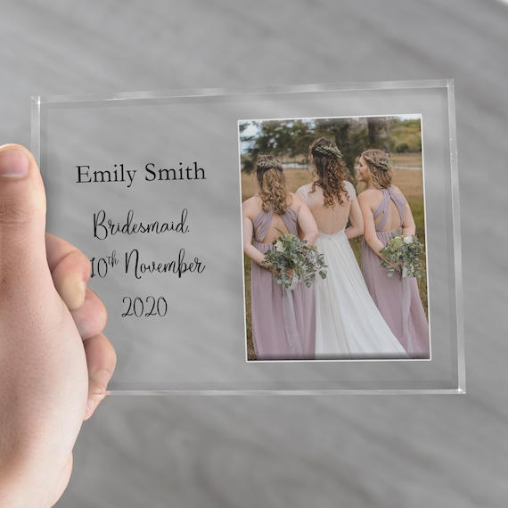 Bridesmaid Picture Frame, Bridesmaid Gift, Maid Of Honor Frame,  Bridesmaid Thank You, Bridesmaid Proposal