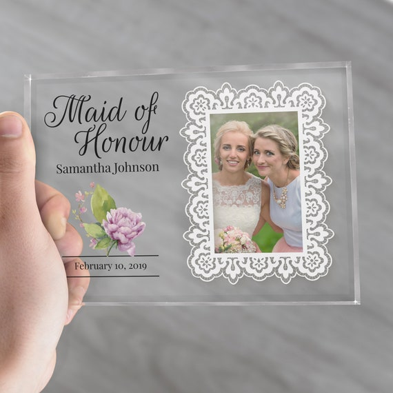 Bridesmaid Gifts | Maid of Honor Frame | Maid of Honor Gift