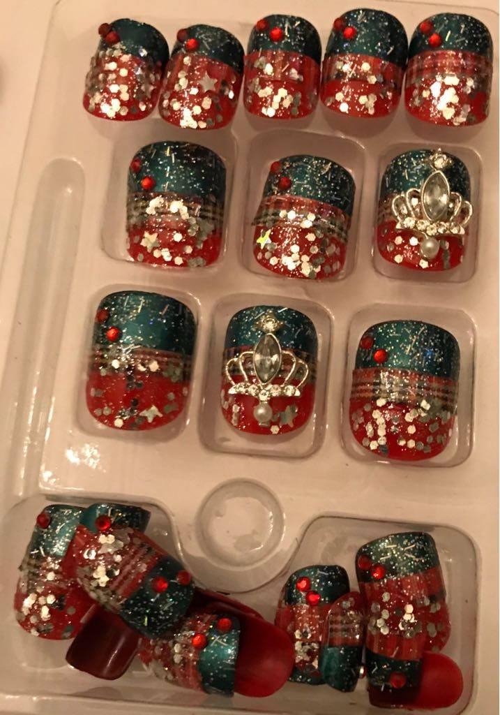 Winter Princess Nails Etsy
