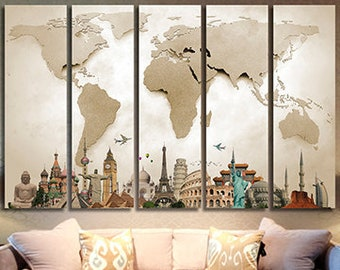 World map canvas etsy world map canvas art wold map large canvas art world map canvas print world map wall decor wall art wold map canvas painting world map art gumiabroncs Gallery
