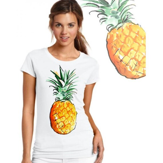 765f5fdc9d2b05 pineapple t-shirt pineapple floral graphic tee t shirt designs