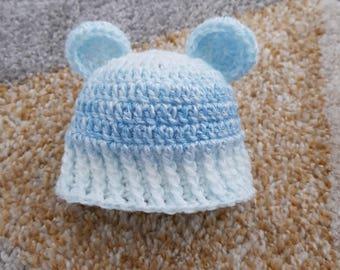 Baby bear crochet hat