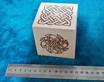 Celtic Inspired Square Wooden Box