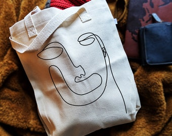 36dbd37ab8 Face Canvas Tote bag