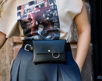 Black fanny pack   Black belt bag   Black belly bag   Black leather bag   Black leather wallet   Black leather purse   Leather fanny pack