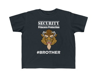 Security Princess Protection Brother Disney Toddler Kid's Fine Jersey Tee