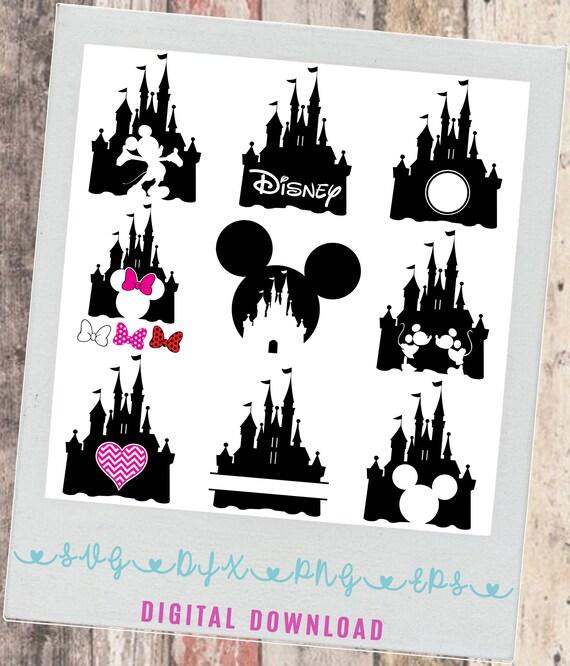 Disney Castle Bundle Svg Png Eps Dfx Disney Font Mickey Etsy