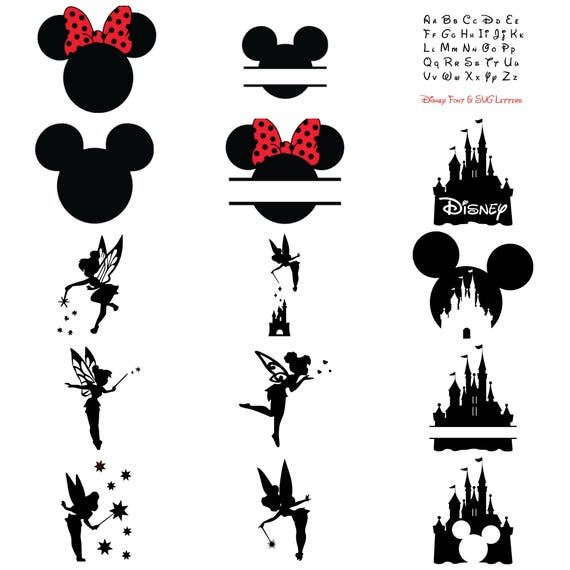 Disney Bundle Svg Cut Files Mickey Minnie Mouse Ears Etsy