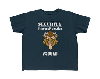 Security Princess Protection Squad Disney Toddler Kid's Fine Jersey Tee