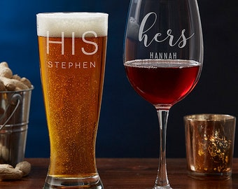CUSTOM Glass Etching - Personalized, Craft Beer, Wedding Favor, Groomsmen Glass, Etched Bachelor Gift, Whiskey Glass, Retirement
