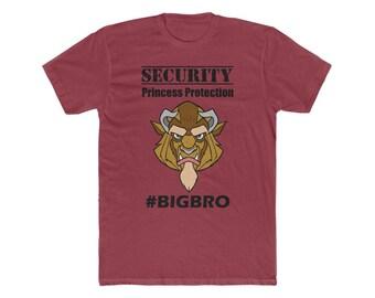 Disney Beast Security Protection Squad BIG BRO Men's Cotton Crew Tee