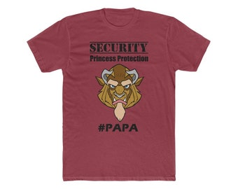 Disney Beast Security Protection Squad PAPA Men's Cotton Crew Tee