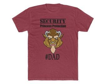 Disney Beast Security Protection Squad DAD Men's Cotton Crew Tee