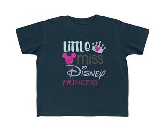 Little Miss Disney Princess Disney Toddler Kid's Fine Jersey Tee