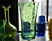 Blenko Glass Company Paper Bag Vase 8813MC Vintage Hand Blown Art Glass Vase Free Shipping