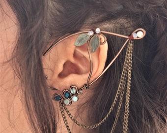 Model Oriana (pair) | Elf ears, Fantasy elf ear cuffs, Elven ear earrings, Elvish ears, Elven jewelry, Ear Wraps