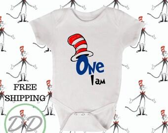 89c73bae5 Dr Seuss Onesie® - One I Am Onesie® - First Birthday Onesie® - Organic  Onesie® - Onesies for Boys - Onesies for Girls