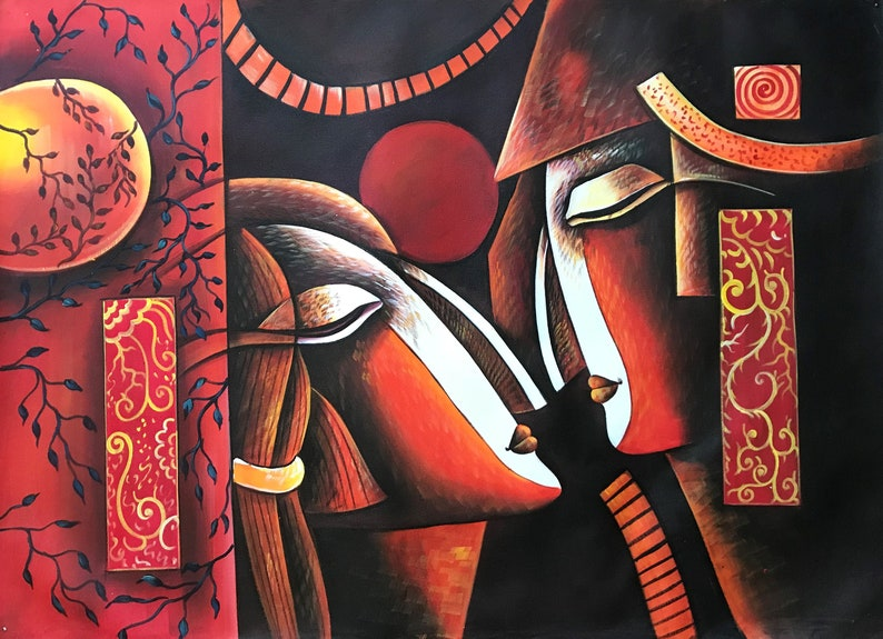 Large Wall Art Oil Painting Painting On Canvas Original image 0
