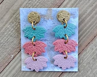 Polymer Clay Earring Bohemian Earring Earring Lotus Flower Earring