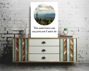 The Mountains are Calling Poster - original photo from Dolly Sods, West Virginia