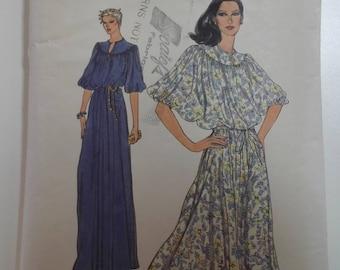 Misses 80's dress vintage vogue pattern