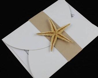 Starfish Invitation, Rustic Invitations, Beach Wedding Invitation, Unique Wedding Invitation