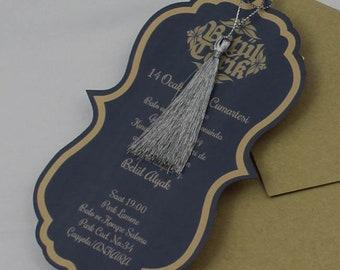 Custom Handmade Invites,Personalized Invitation, Pocket 1 Invitation