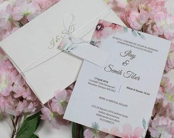 Invitations, Puzzle Invitation, Custom Handmade Invites, Personalized Invitation, Pocket 1 Invitation
