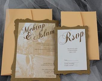 Rustic wedding invitation, invitation, simple invitation,  rustic invitation, rustic modern invitation, rsvp cards