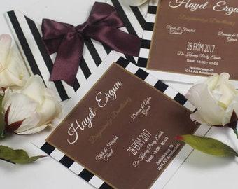 Invitations, Floral Invitation, Custom Handmade Invites, Personalized Invitation, Pocket 1 Invitation