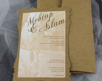 Rustic wedding invitation, invitation, simple invitation,  rustic invitation, rustic modern invitation